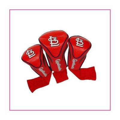 Team Golf MLB St Louis Cardinals Contour Golf Club Headcovers (3 Count), Numbered 1, 3, & X, Fits Oversized Drivers, Utility, Rescue & Fairw