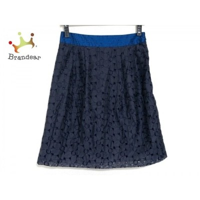 ギャラリービスコンティ GALLERYVISCONTI スカート レディース ダークネイビー×ブルー 刺繍     スペシャル特価 20200504
