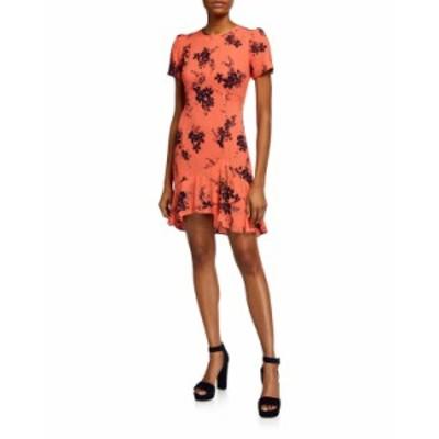 マイケルコース レディース ワンピース トップス Bouquet Floral-Print Flounce Dress ORANGE PATTERN