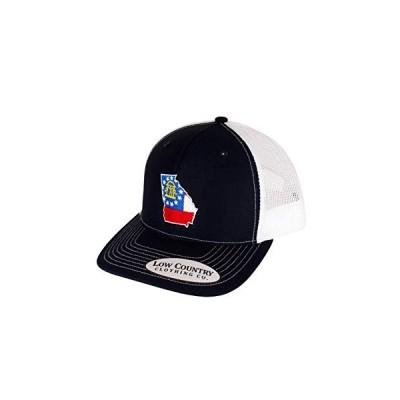 Low Country Clothing Company ジョージア州旗 調節可能な帽子 - Richardson 112トラッカーハットに刺繍 US