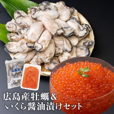 特大2L牡蠣とトラウトサーモンいくらセット 送料込 ギフト お祝い お取り寄せグルメ 食品 母の日