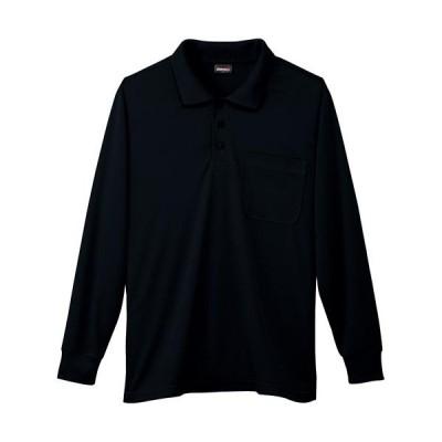 桑和(SOWA) 長袖ポロシャツ 4/ブラック S〜3Lサイズ 50390 作業着 作業服 ワークウェア ウエア トップス メンズ