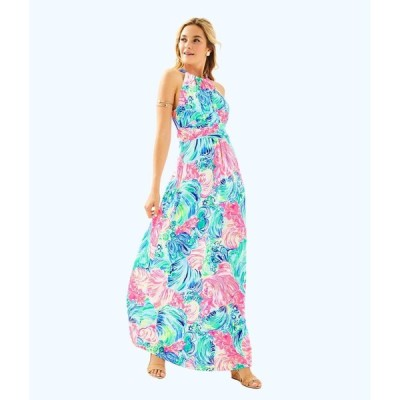 ワンピース リリーピュリッツァー Lilly Pulitzer MARTINA MAXI DRESS Multi Beach Please Bow Pink Blue XS