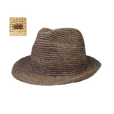 帽子 ステットソン STETSON SE507 ラフィアハット 茶 ベージュ マニッシュ 中折れ メンズ レディース
