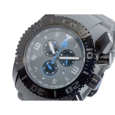 ヌーティッド NUTID MATT BULL クオーツ メンズ クロノ 腕時計 N-1403M-C BK/GY