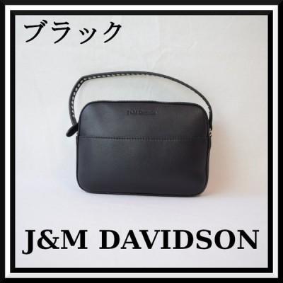 ジェイ&エムデヴィッドソン J&M Davidson ぺブル ミニ 牛革 ブラック 1869N-7314-9990