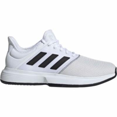 アディダス adidas メンズ テニス シューズ・靴 GameCourt Tennis Shoes White/Black/Gray