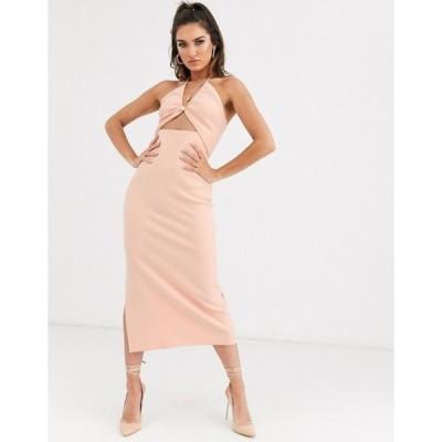 ベックアンドブリッジ レディース ワンピース トップス Bec & Bridge ruby asymmetrical bodycon midi dress in peach