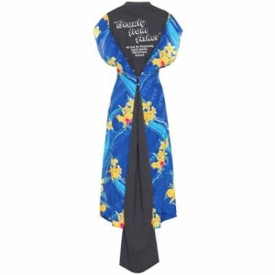 ヴェトモン Vetements レディース ワンピース マキシ丈 ワンピース・ドレス Silk and wool maxi dress BlueandPrint