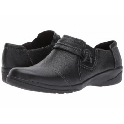 Clarks クラークス レディース 女性用 シューズ 靴 ローファー ボートシューズ Cheyn Madi Black Tumbled Leather【送料無料】