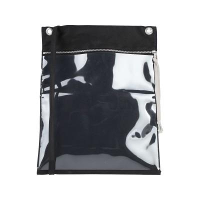 ダークシャドウ バイ リック オウエンス DRKSHDW by RICK OWENS 肩掛けバッグ ブラック コットン 100% / ポリ塩化ビニル