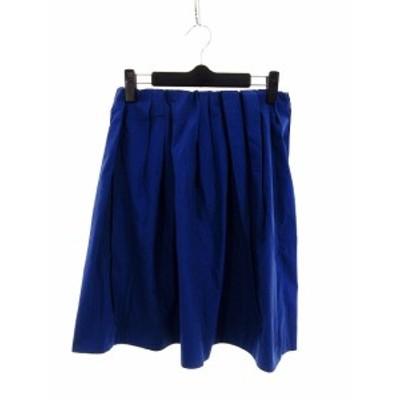 【中古】アーバンリサーチ URBAN RESEARCH スカート フレア ミニ 無地 F 青 ブルー /M2 レディース