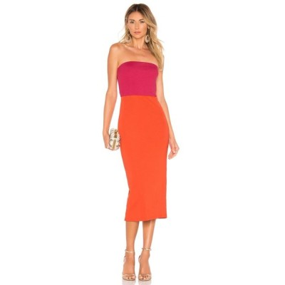 エヌビーディー NBD レディース ワンピース ワンピース・ドレス Kyra Midi Dress Fuchsia/Orange