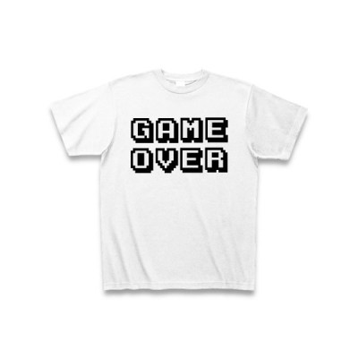 GAME OVER Tシャツ(ホワイト)