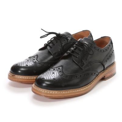 ロンドンシューメイク London Shoe Make グッドイヤーウエルトオールレザーハンドメイド外羽根ウィングチップ(ブラック)