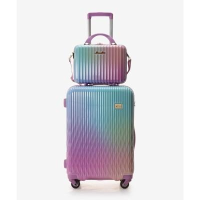 アンドシュエット & chouette スーツケース≪Lunalux≫ 中 (ブルーパープル)