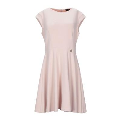 MANGANO ミニワンピース&ドレス ピンク L ポリエステル 74% / レーヨン 21% / ポリウレタン 5% ミニワンピース&ドレス