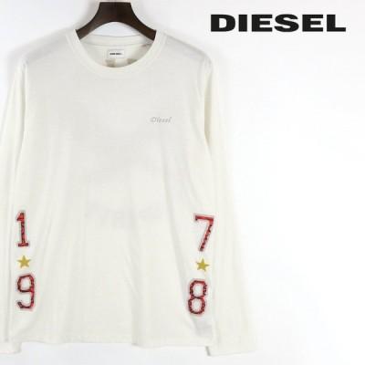 ディーゼル DIESEL 長袖Tシャツ カットソー メンズ ラウンドネック バックプリント ロンT T-JOE-LS
