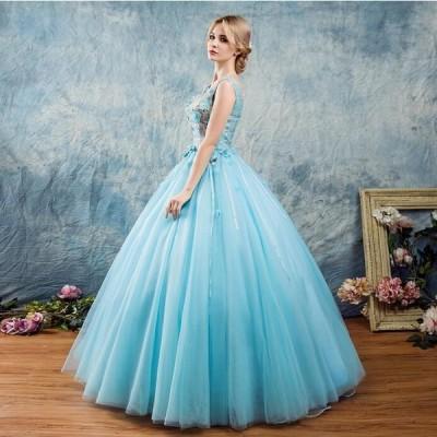 カラー パーティードレス 花嫁ウェディングドレス カラードレス ステージ衣装 披露宴 演奏会 結婚式 二次会ドレス