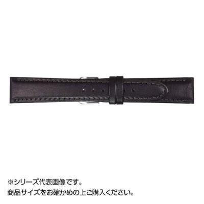 MIMOSA(ミモザ) 時計バンド EMカーフ 18mm ブラック (美錠:銀) CEM-A18 バンド