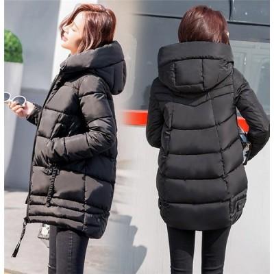 レディース ダウンジャケット 中綿ジャケット キルトコート 中綿コート アウター トップス   防風 防寒  フード付き