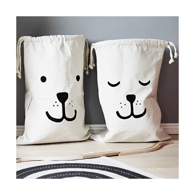 Home D?cor Canvas Storage Bag Basket Organizers for Kids Toys, Baby Clothin