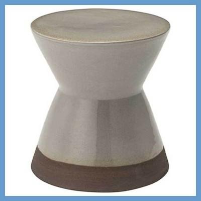 『小型』陶器製ミニスツール/グレー(CLY-20GY)