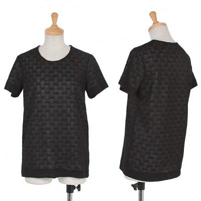 ワイズY's 重ねデザインドット柄Tシャツ 黒白M位 【レディース】
