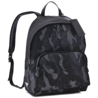 プラダ/PRADA バッグ メンズ テスートカモフラージュ バックパック リュックサック ブラック ネイビー  2VZ066-ZSR-008