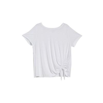 カスロン レディース Tシャツ トップス Burnout Tie Front T-Shirt WHITE