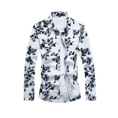 [CEEN] シャツ メンズ 長袖 アロハ カジュアル ハワイアン 花柄 大きいサイズ 秋 綿