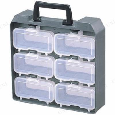 【取寄品】 IRIS パーツ収納 ユニットケース(ウエストケース6個付) ツールボックス パーツケース