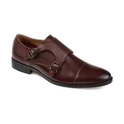 トーマス アンド バイン ドレスシューズ シューズ メンズ Men's Calvin Double Monk Strap Dress Shoe Brown