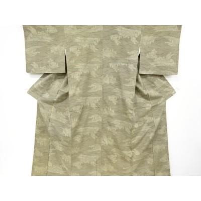 アンティーク 寺塔模様織り出し大島紬着物