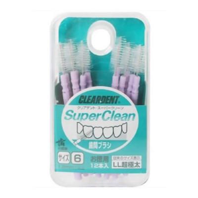 クリアデント 歯間ブラシ お徳用 サイズ6 LL 超極太 12本入