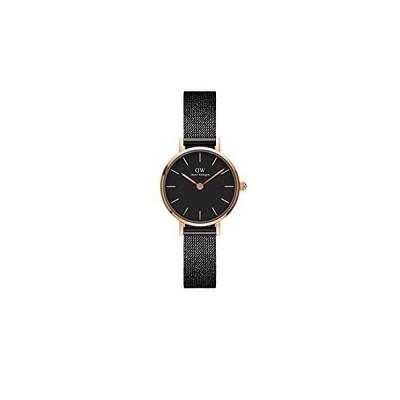 Daniel Wellington Petite Ashfield 腕時計 マットブラック メッシュブレスレット 24mm並行輸入品