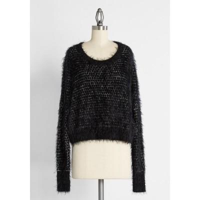 ポーラウィン POLARWIN ENTERPRISE LTD レディース ニット・セーター クロップド トップス Nipping at Your Nose Cropped Sweater Black
