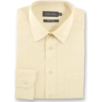 ダブルTWO Double Two メンズ シャツ トップス Classic Easy Care Cotton Blend Long Sleeved Shirt Cream