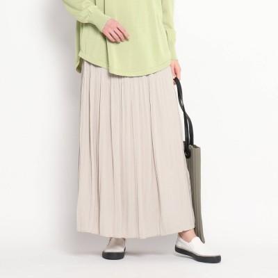 デッサン Dessin 【S~L/ウエストゴム】プリーツスカート (ライトグレー)