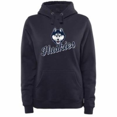 Fanatics Branded ファナティクス ブランド スポーツ用品  UConn Huskies Womens Navy Slant Script Pullover Hoodie
