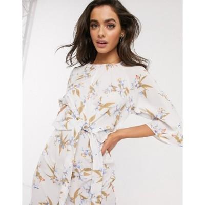 アックスパリ レディース ワンピース トップス AX Paris batwing sleeve dress in floral