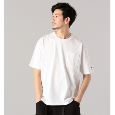 【シップス/SHIPS】 【SHIPS別注】Champion: マーセライズドコットン リラックスフィット Tシャツ