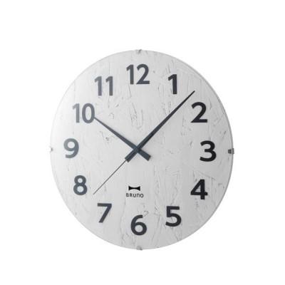 時計 電波モノクロウッドクロック