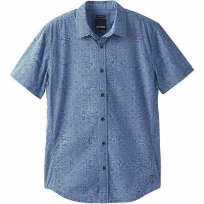 プラーナ Prana メンズ 半袖シャツ トップス UlU Shirt - Standard Steel Blue Geo