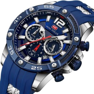 [NO.5]ミニフォーカスMF0349Gファッション3多機能ダイヤル発光ディスプレイ男性クォーツ時計