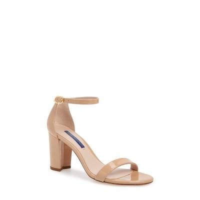 スチュアート ワイツマン サンダル シューズ レディース NearlyNude Ankle Strap Sandal Adobe Patent