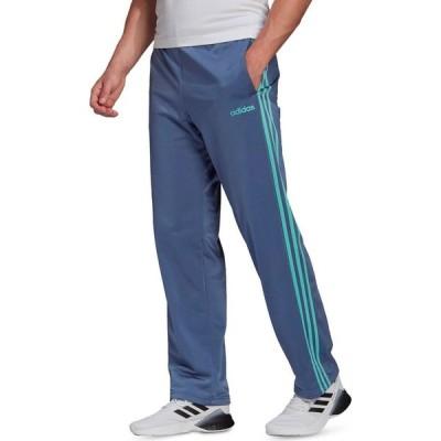 アディダス adidas メンズ スウェット・ジャージ ボトムス・パンツ Essentials 3-Stripes Tricot Track Pants Crew Blue/Mint