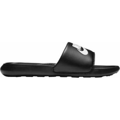 ナイキ メンズ サンダル シューズ Nike Men's Victori One Slides Black/White/Black