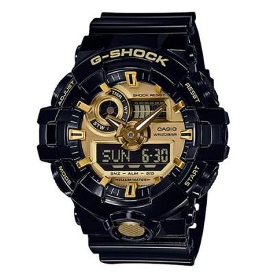 カシオ G-SHOCK Gショック メンズ ブラック×ゴールド 大きいケース アナログデジタル 多機能 防水 GA-710GB-1A 腕時計