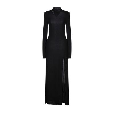 BEN TAVERNITI™ UNRAVEL PROJECT ロングワンピース&ドレス ブラック M ウール 85% / カシミヤ 15% ロングワ